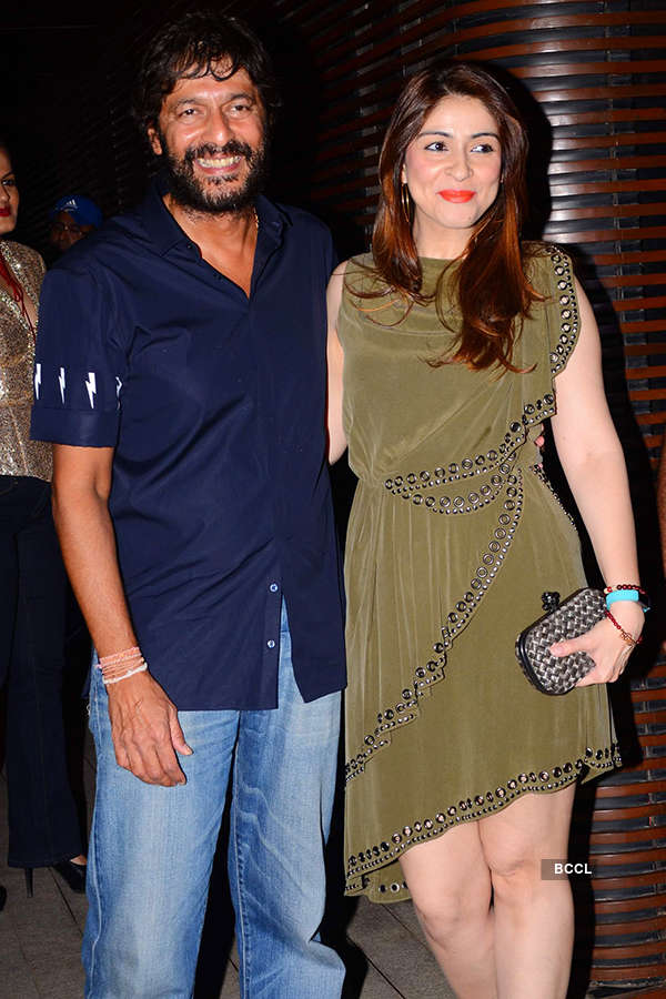 Chunky Pandey and Bhavana Pandey attend the success party