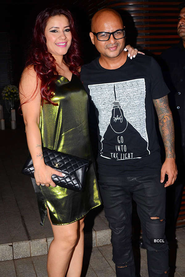 Aalim Hakim with his wife Shano attends the success party
