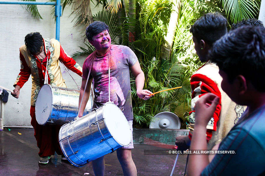 Holi celebrations at Upendra's house