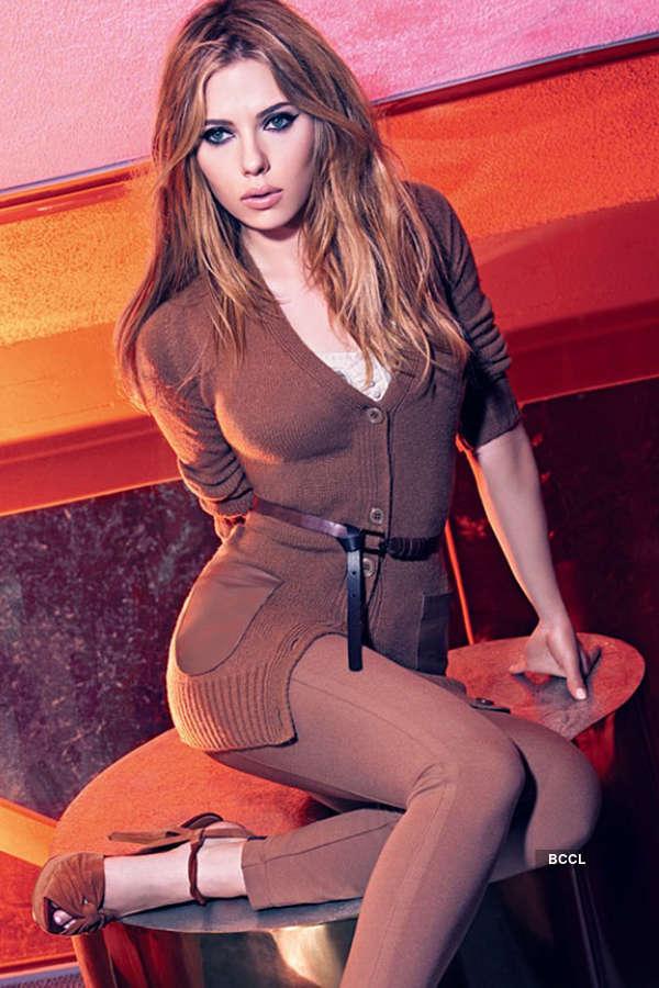 Avengers actress Scarlett Johansson is smouldering blonde