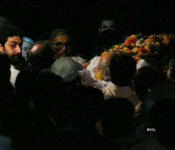 Aishwarya Rai's father's funeral