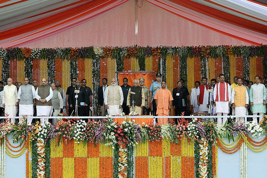 Yogi Adityanath sworn in as Uttar Pradesh CM