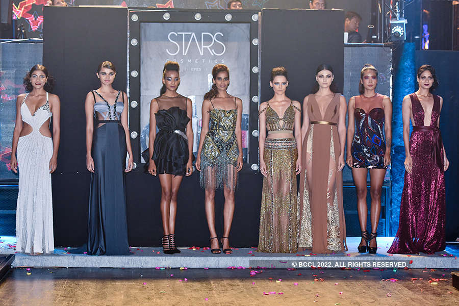 Models walk the ramp for Stars Cosmetics