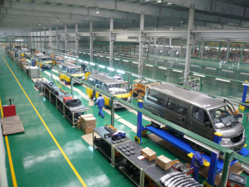Car assembly in factory