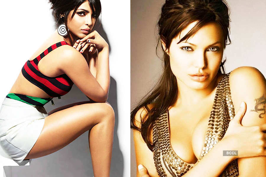 Priyanka replaces Angelina to become second most beautiful woman in the world...