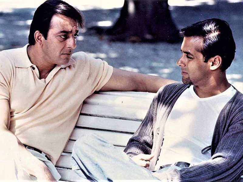 This throwback picture of Sanjay Dutt and Salman Khan will ...
