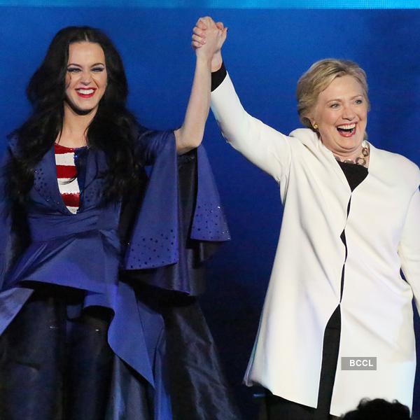 Katy Perry with Hillary Clinton
