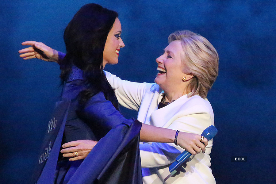 Katy Perry had shown plenty of support Clinton