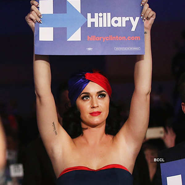 Katy Perry showed her support for Hillary Clinton
