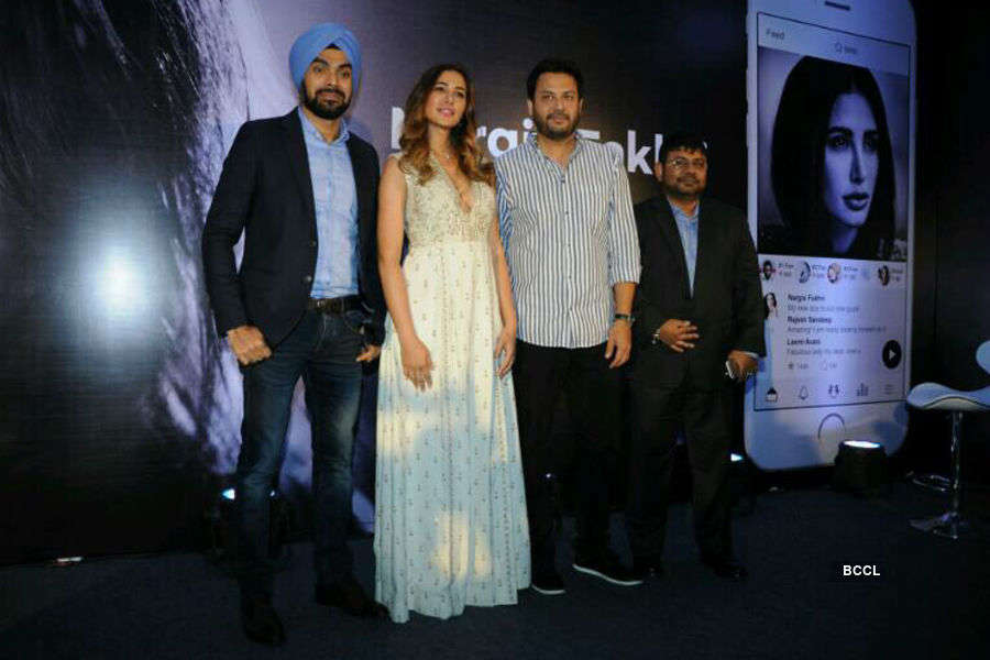 Nargis at her official app launch