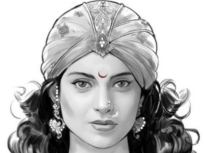 revealed kangana ranaut s look in rani lakshmibai biopic
