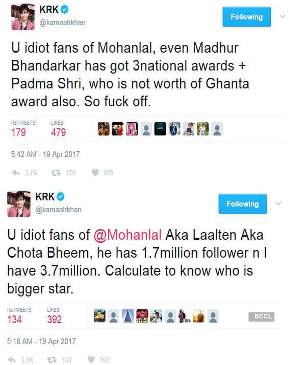 KRK abuses Rajamouli, calls 'Baahubali 2' a crap