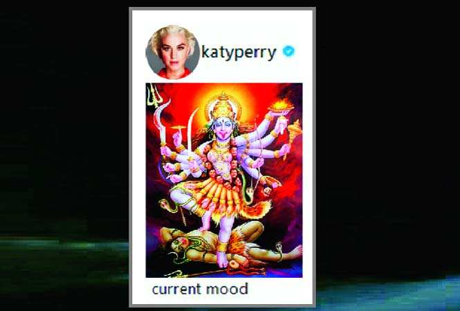 "Image result for pop singer had posted a picture of Goddess Kali in a fierce avatar and captioned it as ""Current Mood."""
