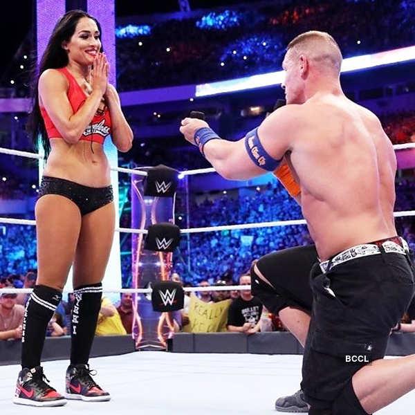Wrestlers John Cena, Nikki Bella share their intimate moments