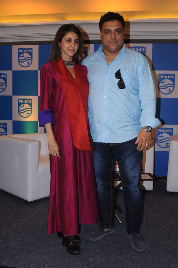 Ram & Gautami at Philips press conference