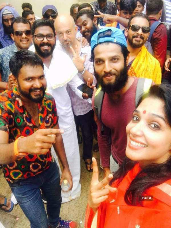Rahul Rajasekharan celebrates Thrissur Pooram
