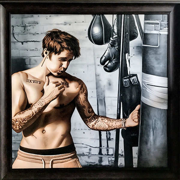 Artist Suvigya commissions a boxing portrait for Justin Bieber