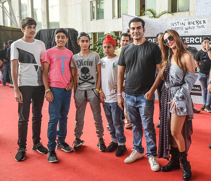 Celebs attend Justin Bieber's concert