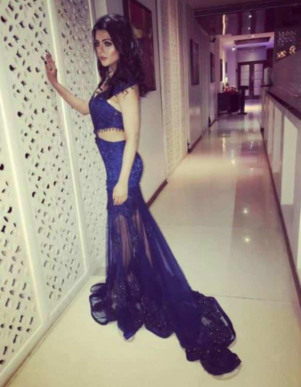 Ruhi Singh walks for designer Haneet Singh