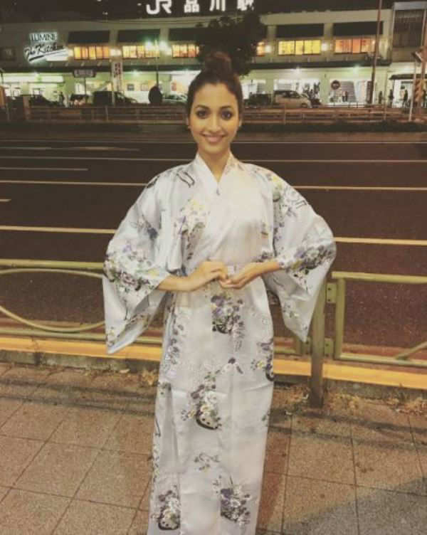 Srinidhi Shetty embraces the Japanese culture