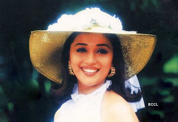 Madhuri wearing a hat