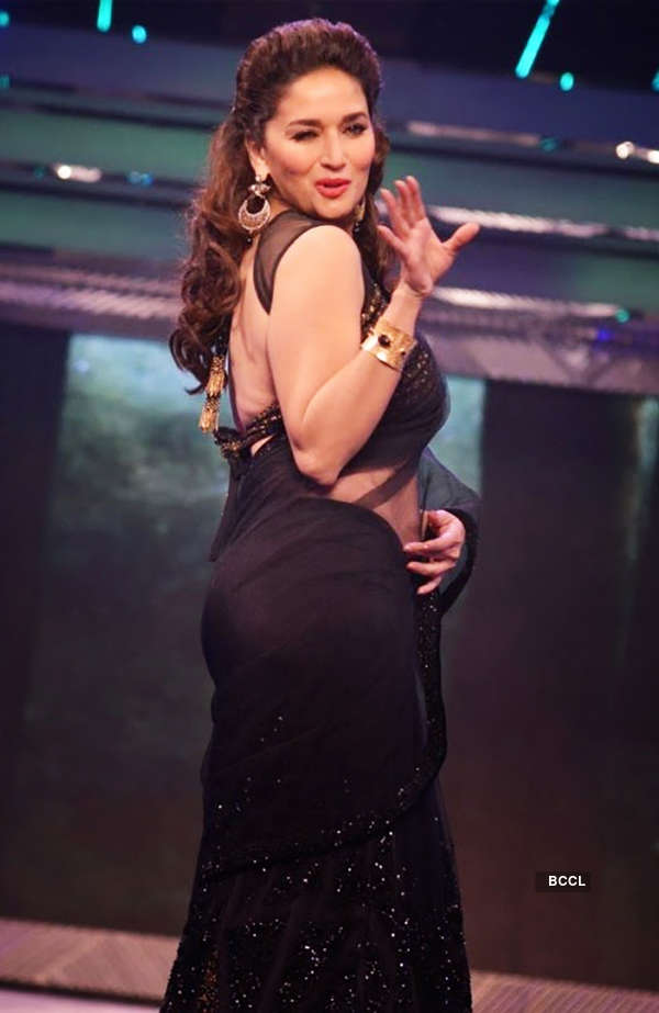 Madhuri dancing in black saree