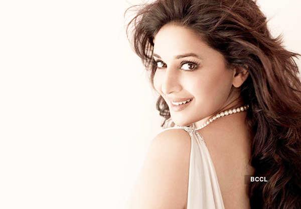 Madhuri smiling