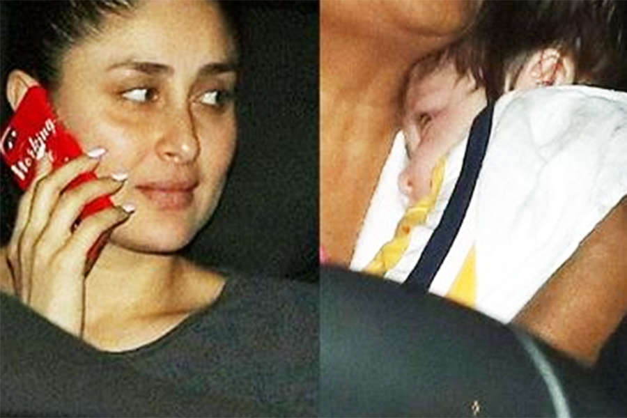 Little Taimur enjoys a ride with mommy Kareena
