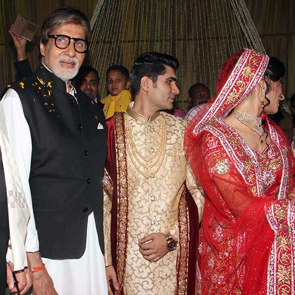 Amitabh Bachchan attends Ali Khan's daughter's wedding