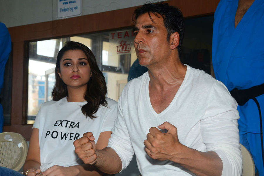 Akshay and Parineeti at Self Defence event