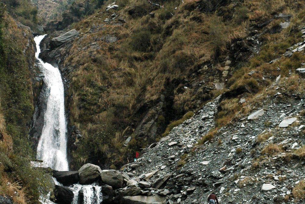 Picnicking at the famous Bhagsunag Waterfalls
