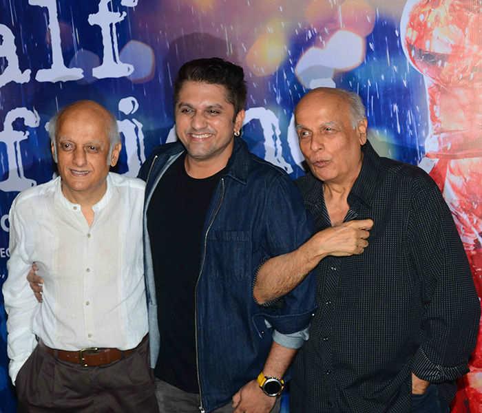 Mukesh Bhatt, Mohit Suri, Mahesh Bhatt at Half Girlfriend's success party