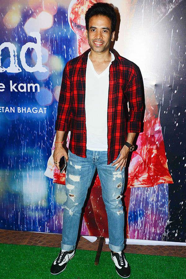 Tusshar Kapoor at Half Girlfriend's success party
