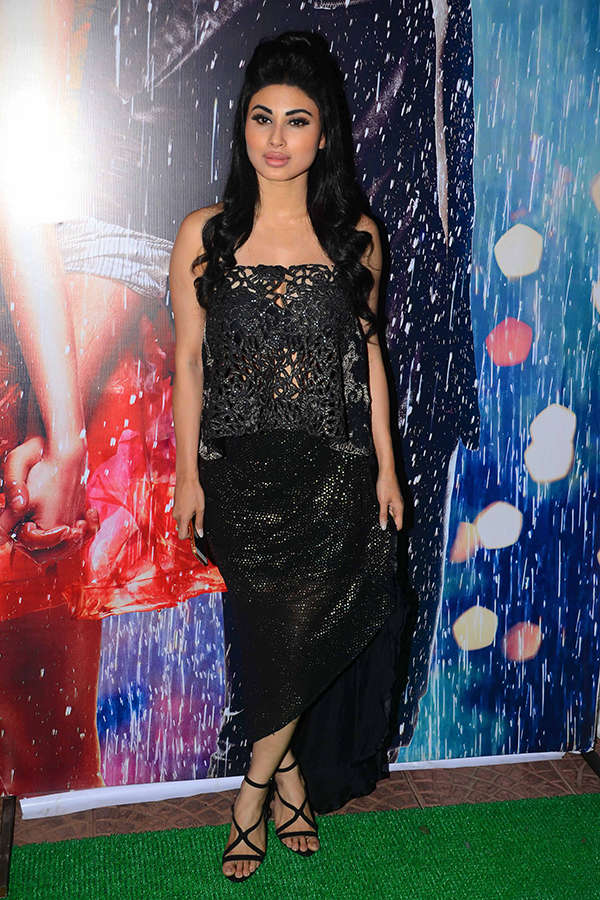 TV actress Mouni Roy arrives for a party