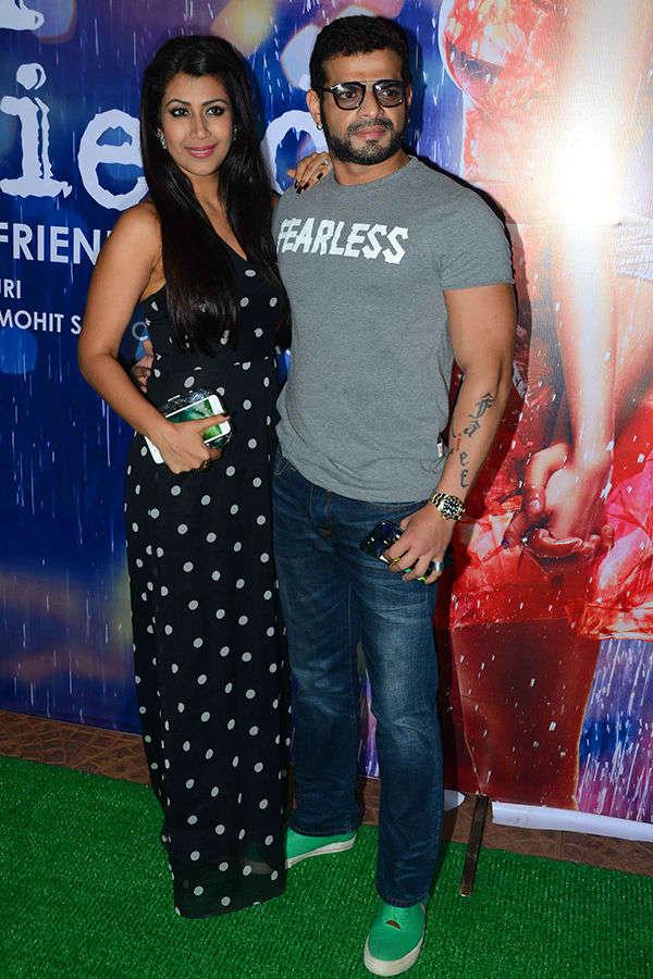 Karan Patel, Ankita Patel at Half Girlfriend's success party