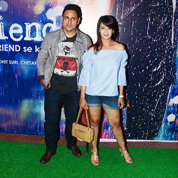 Parvin Dabas and Preeti Jhangiani at Half Girlfriend success party