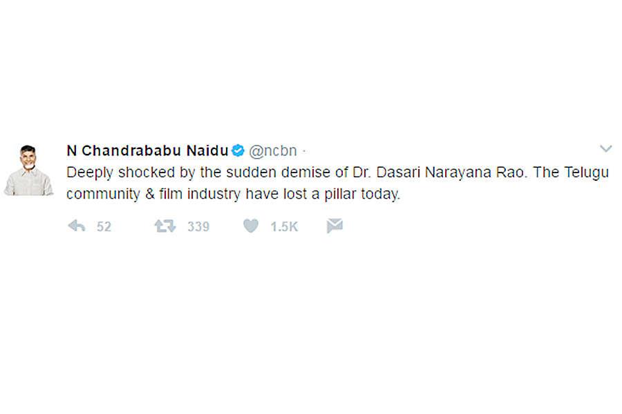 Filmmaker Dasari Narayana Rao passes away
