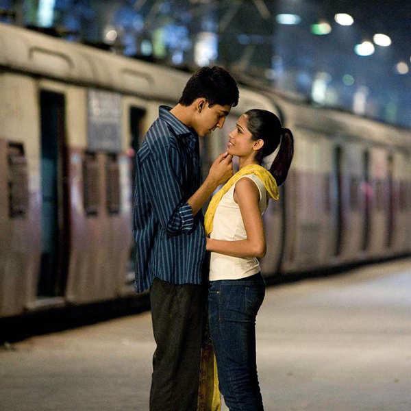 Freida Pinto and Dev Patel in Slumdog Millionaire