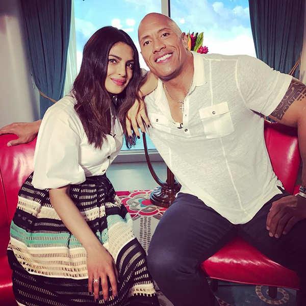 Priyanka Chopra with Dwayne 'The Rock' Johnson