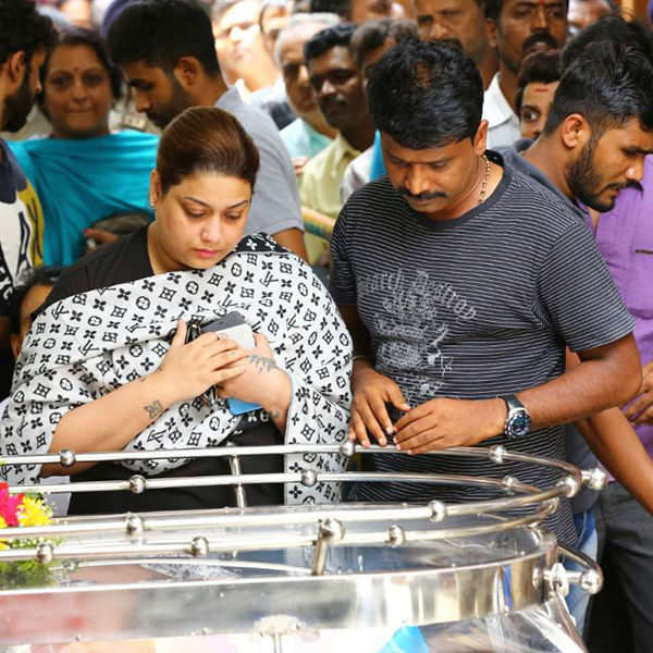 Parvathamma Rajkumar's funeral