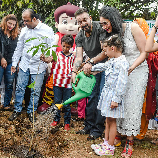 Sanjay Dutt attends tree plantation drive