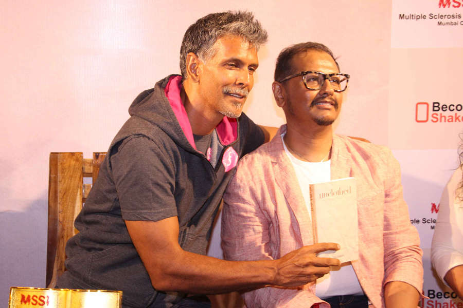 Milind Soman at a book launch