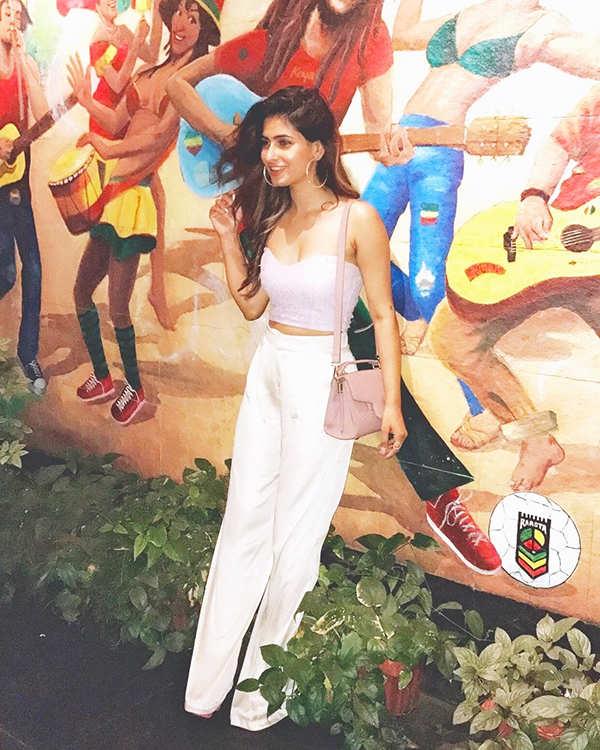 Karishma Sharma beats the heat in style