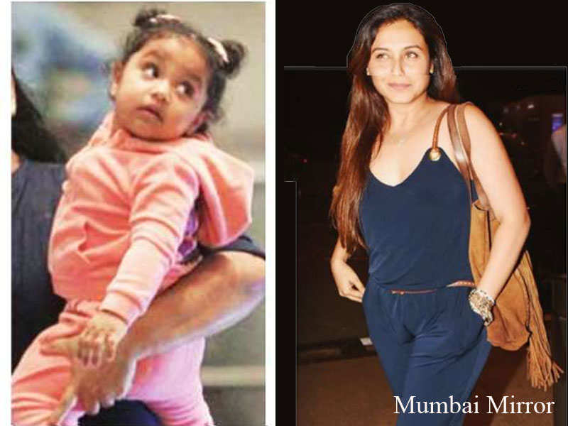 Rani Mukerji spotted with daughter Adira