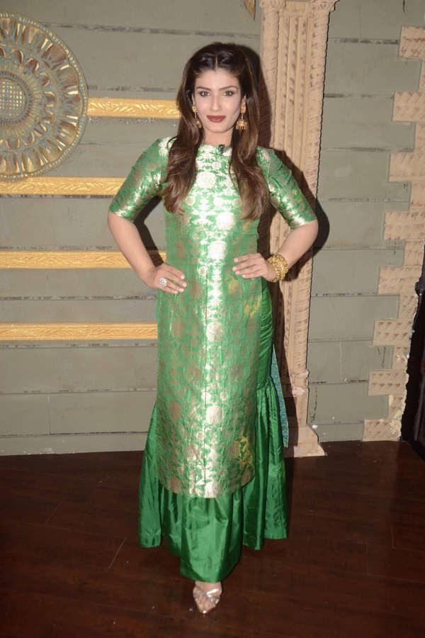 Raveena Tandon pose