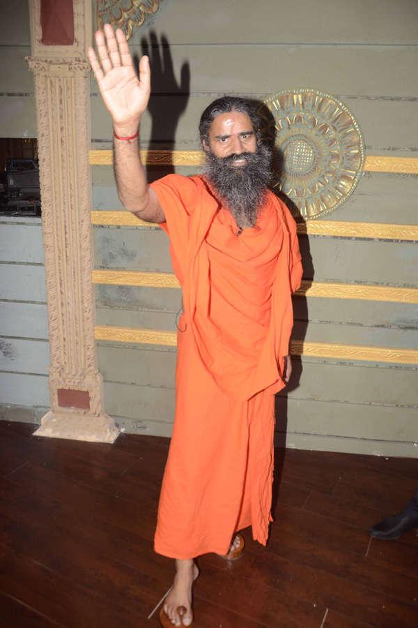 Baba Ramdev waving