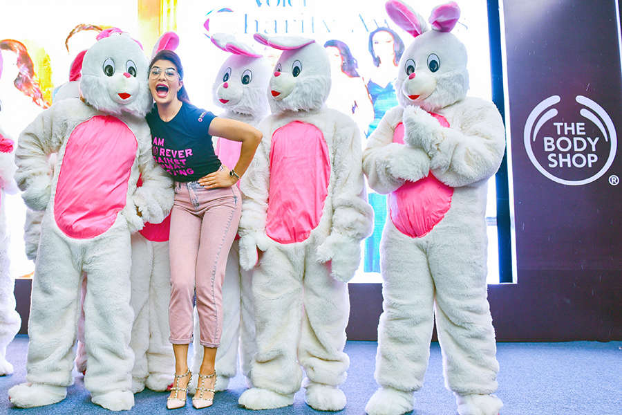 Jacqueline Fernandez supports Forever Against Animal Testing campaign