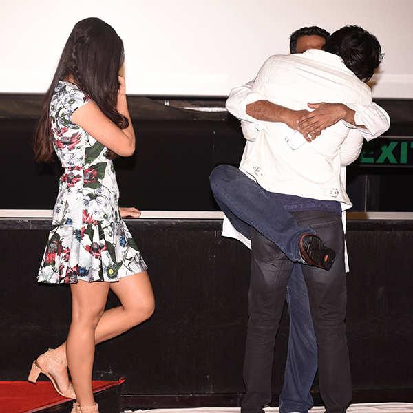 Awkward Celebrity Hugs