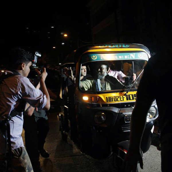 Salman Khan takes an auto-rickshaw ride in Mumbai