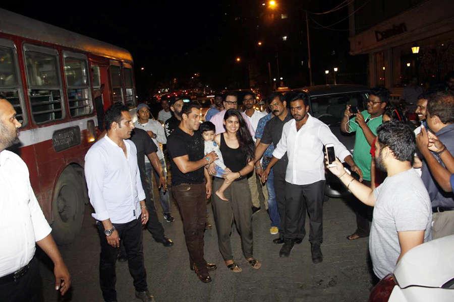 Salman Khan with his fans